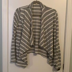 Two Striped J Crew Light Cardigans